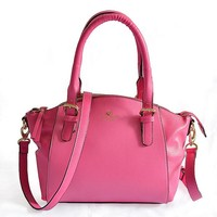 Kate Spade Lady Classic Shopping Leather Tote Handbag Shoulder Bag Color Rose