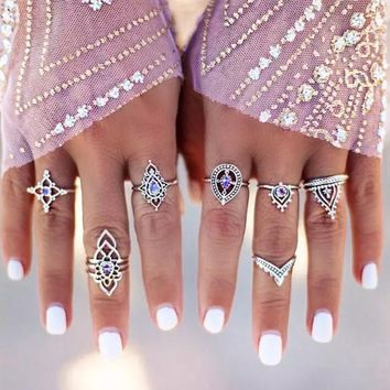 Gypsy Stone Ring Set