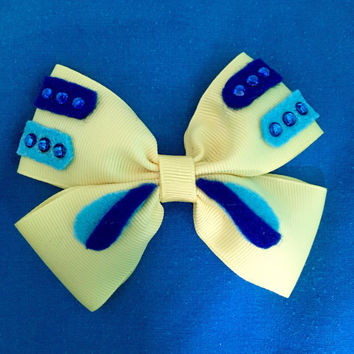 Flounder Little Mermaid Hair Bow