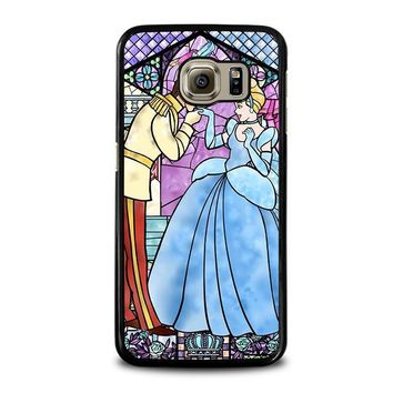 cinderella art glasses disney samsung galaxy s6 case cover  number 1