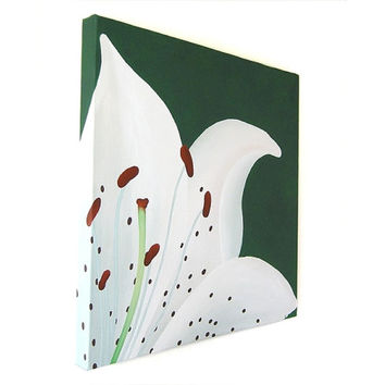 White Lily Flower acrylic painting (UK only)