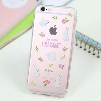 Cute Rabbit Cover Case for iPhone 5s 5se 6 6s Plus Gift 318-170928