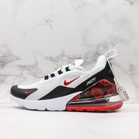 Nike Air Max 270 White Black Red Floral Running Shoes - Best Deal Online