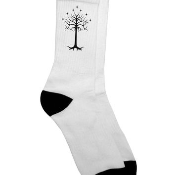 The Royal White Tree Adult Crew Socks  by TooLoud