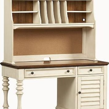 Bedroom Furniture, Southport Desk/Hutch - Distressed White, Bedroom Furniture | Havertys Furniture