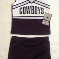 NWT Dallas Cowboys Girls Cheerleader Uniform Outfit Halloween Costume Sz XS
