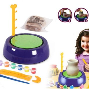 Kids DIY Pottery Wheel Toy Set Kit Gift Idea