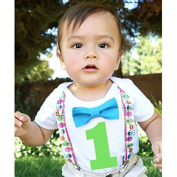 Little Monster First Birthday Outfit Boy Number One