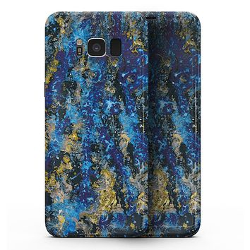 Abstract Blue Wet Paint - Samsung Galaxy S8 Full-Body Skin Kit