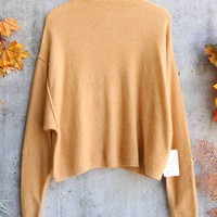 Free People - Breakaway High Neck Pullover - Desert Sand