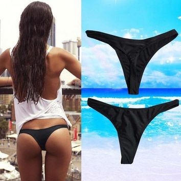 Women Sexy Bikini Swimwear Beach Bathing T-Back Bottom Thong G-string L