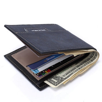 Leather Men Korean Innovative Wallet [8830605251]