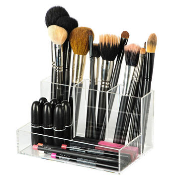 Acrylic Clear Brush Holder