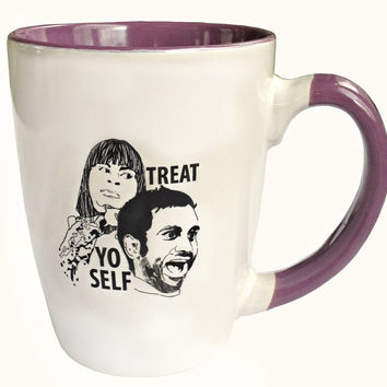 Parks and Recreation Treat Yo Self Mug  PRE ORDER by PeachyApricot