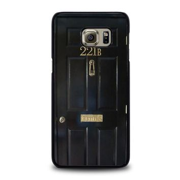 the door of sherlock holmes samsung galaxy s6 edge plus case cover  number 1