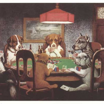 Dogs Playing Poker 24x36 Art Print Poster (1999)