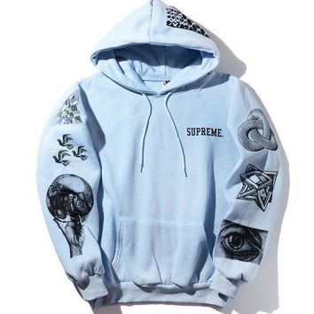 CREY9N Hats Print Geometric Pattern Hoodies