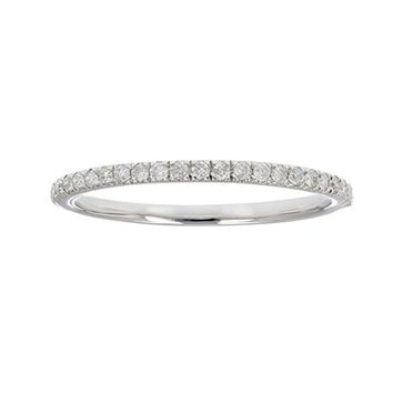 1/6 ctw Pave Diamond Wedding Band in 10K White Gold