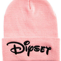 The Dip Beanie in Cam Pink