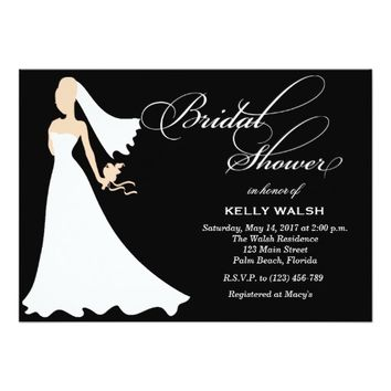 Bridal Shower Invitation Wedding Gown Elegant