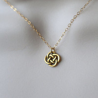 Tiny Gold Celtic Knot Necklace, Celtic Necklace, Celtic Knot Jewelry, Irish Jewelry, Gold Necklace, St. Patricks Day, Ireland