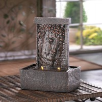 Peaceful Buddha Indoor Tabletop Water Fountain Decor