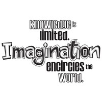 Knowledge is limited. Imagination encircles the world Quote Wall Decal. #OS_DC305