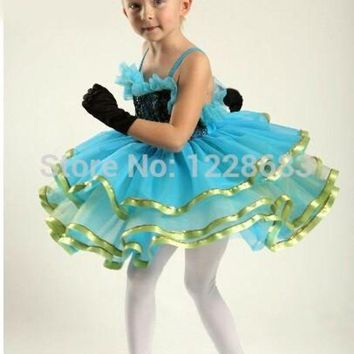 LMF78W Free Shipping Balet Dresses For Ballet Performances Teen Party Tutu Dresses For Juniors Classical Tutu Ballet Dress For Children