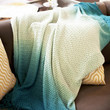 Diane Teal Knitted Throw