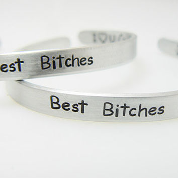 Best Bitches -Personalized Bracelet - Set of 2 - Best Friend Gift - Friendship Gift - Sister Bracelets