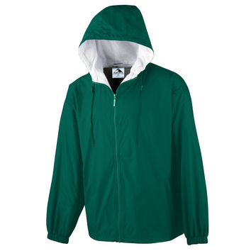Augusta 3278 Youth Hooded Taffeta Jacket/Flannel Lined - Forest