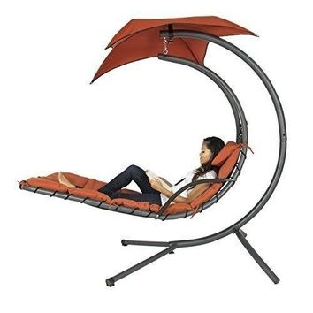 Chaise Lounger Chair Outdoor Stand Swing Hanging Hammock Porch Canopy