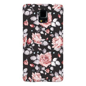 Vintage Pink Floral Pattern Galaxy Note 4 Case