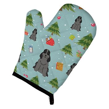 Christmas Cocker Spaniel Black Oven Mitt BB4752OVMT