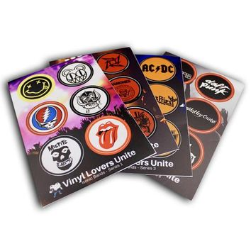 Gifts For Music Lovers - ICONIC BAND STICKERS (Series 1-4): Limited Edition, Awesome Gift - Nirvana, Grateful Dead, Rammstein, Metallica...