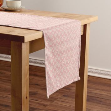 Vintage Pink Damask Regency Print Table Runner