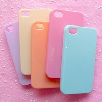 iPhone 4/4s Case Set of 5pcs Pastel Colors