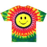 Smiley Face Youth Tie Dye T Shirt on Sale for $15.95 at HippieShop.com