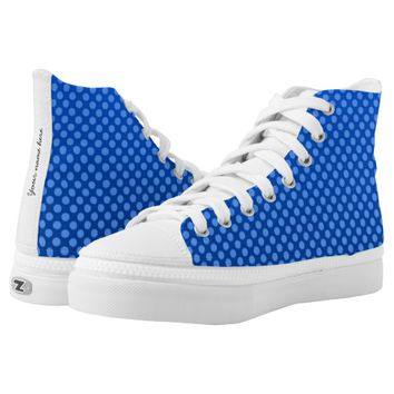 Blue spotted design High-Top sneakers