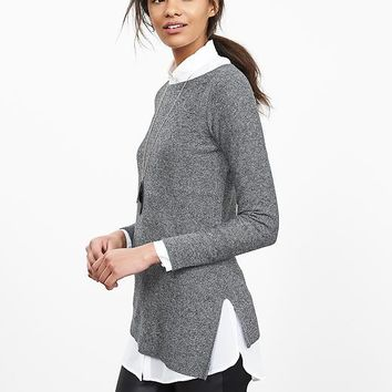 Banana Republic Womens Asymmetrical Hem Pullover