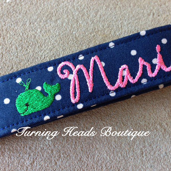 PREPPY WHALE Personalized KeyChain / by TurningHeadsBoutique