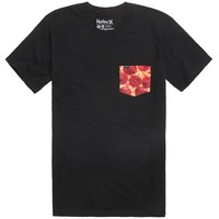 Hurley Pizza Pocket T-Shirt - Mens Tee - Black -