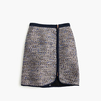 J.Crew Womens Metallic Tweed Zip Skirt