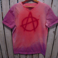 Anarchy Hand Dyed T-Shirt, Punk Rock Size M