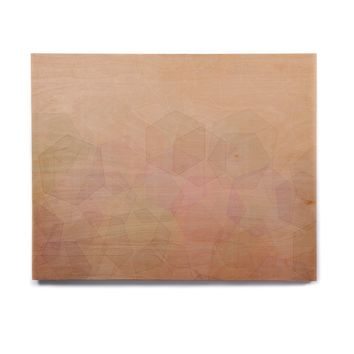"Pia Schneider ""Hazelnut & Hexagonal"" Beige Multicolor Vector Birchwood Wall Art"