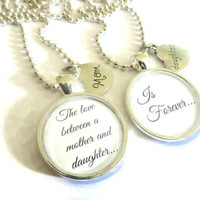 Mom and Daughter Gift ~ The love between a Mom and Daughter Necklace Set , Gift for a Mum from Daughter , Mothers Day , Daughter Jewerly