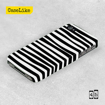 3D iPhone 5 Case - Modern Black and White Stripes, Full Wrap iPhone Case - 3D iPhone 4 Case, 3D iPhone Cover
