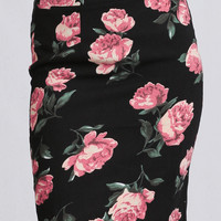 Rooftop View Floral Skirt
