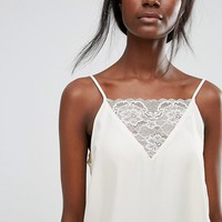 Selected Lace Strap Cami at asos.com