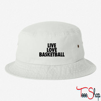 Live Love Basketball basketball bucket hat